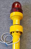 斜面に打ち込む杭型の傾斜センサーを使った土砂崩れ警報装置