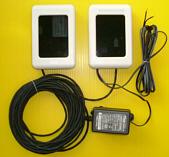 外部送信アンテナユニットで送信部分をケーブルで独立させた例
