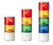 2段積みタイプ〜4段積みタイプを選べます。φ140積層式電球回転灯