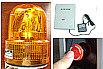 無線呼び出し式回転灯、パトランプ操作システム、無線誘導システム