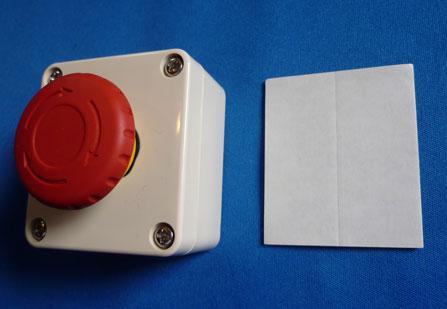 付属の両面テープで接着固定できます