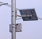 シーラー電源式の無線中継機アロー製小型回転灯