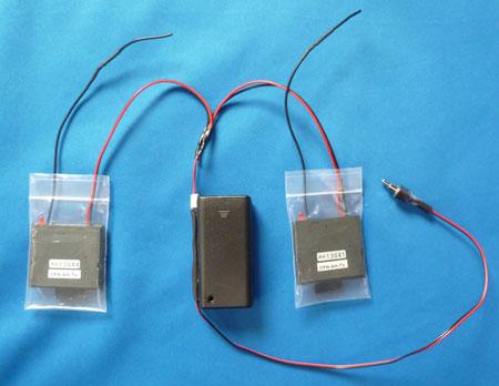 カード発信機2枚タイプ送信機。無線式重機接近警告アラームシステム2。