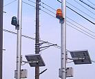ソーラー電源方式(太陽電池)の自動通報機、無線通報機