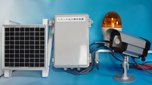 ソーラー電源式トラック車両出入り回転灯警告システム